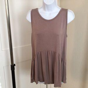Babydoll/peplum blouse